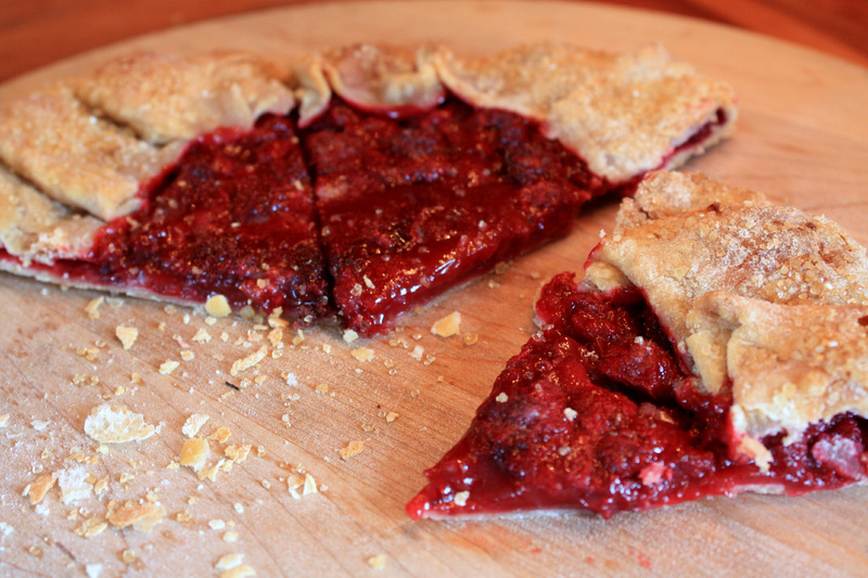 A raspberry galette would be a good use of fruit frozen last summer that may be hiding in a corner of the freezer.