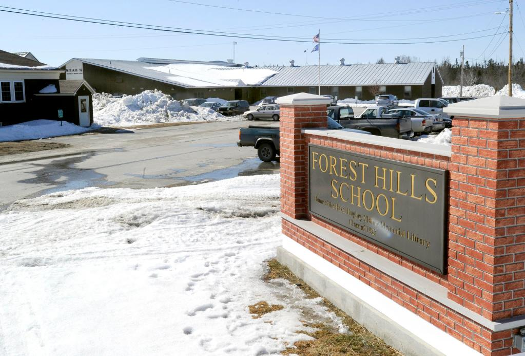 Forest Hills school serves K-12 students from Jackman and Moose River. Residents have developed a web of support for their school that includes every facet of the community.