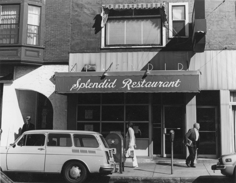"""Seeing Portland"" focuses on the work of photographers from the 1970s and early '80s, including ""Splendid Restaurant, Congress Street, Portland, 8/20/76"" by Todd Webb. The show opens Saturday at Zero Station in Portland."