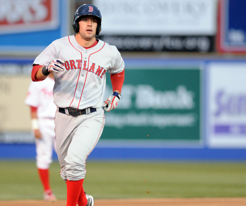 Ryan Kalish got his home-run trot down early Thursday night for the Portland Sea Dogs. As the first batter of the season, Kalish homered to right and Portland went on to a 10-5 victory against the Reading Phillies.