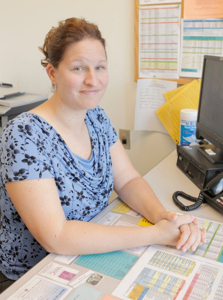 Trista Collins has been a caseworker at the Department of Health and Human Services in Portland for two years.