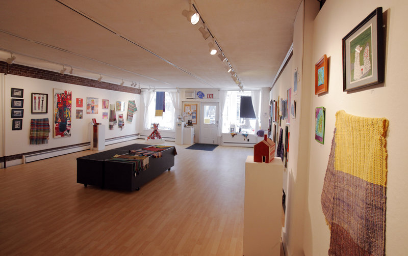 The exhibit space at Harlow Gallery in Hallowell.