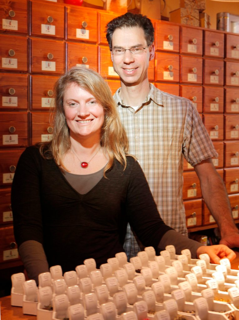 Ellen Kanner and her husband, Ray Marcotte, recently opened the Dobra Tea emporium on Middle Street in Portland, where they stock more than 100 teas from around the world.