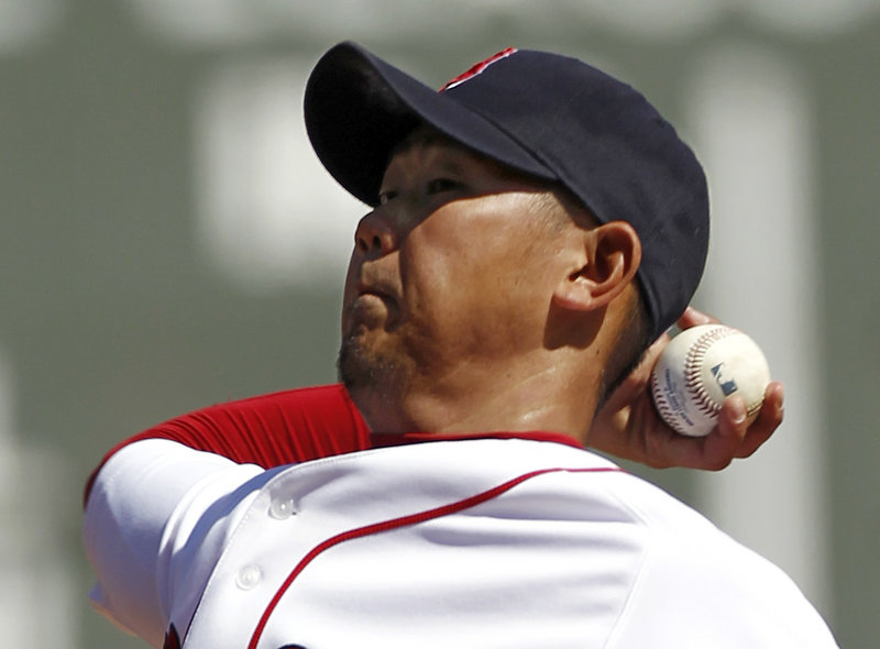 Daisuke Matsuzaka gave up just one hit over seven innings Monday after one of the worst outings of his career. Monday's showing cut his season ERA from 12.86 to 6.43.