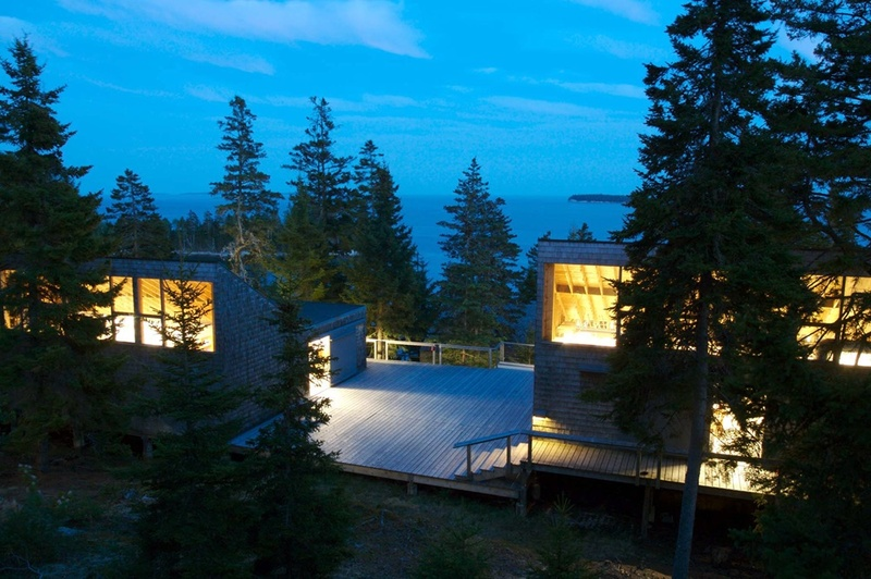 The Haystack Mountain School of Crafts in Deer Isle was designed to blend into its surroundings.
