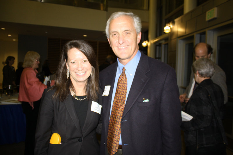 Faith Harrington and Maine Community Foundation board member Peter Lamb, who both live in Kittery Point.
