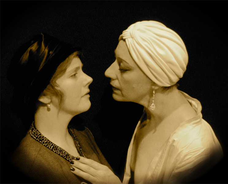 """Josieda Lord and Karen Ball rehearse """"The Greatest Actress Who Ever Lived."""""""