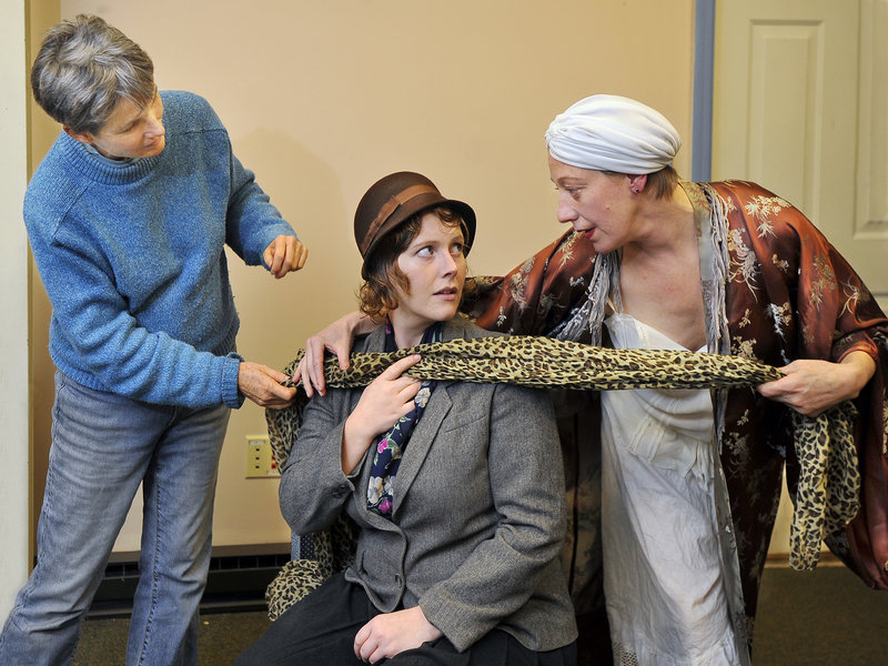 Carolyn Gage directs actresses Josieda Lord and Karen Ball at Lucid Stage.