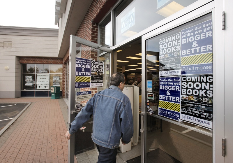Maine retailers like the Bull Moose Warehouse Store in Scarborough are at a disadvantage against online businesses that don't collect sales taxes.