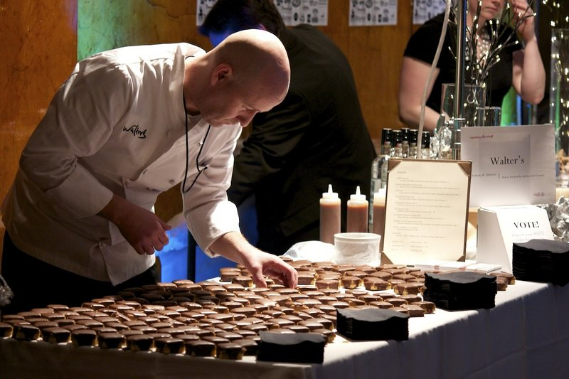 The staff of Walter's readies the Portland restaurant's display at the 2011 Signature Event.