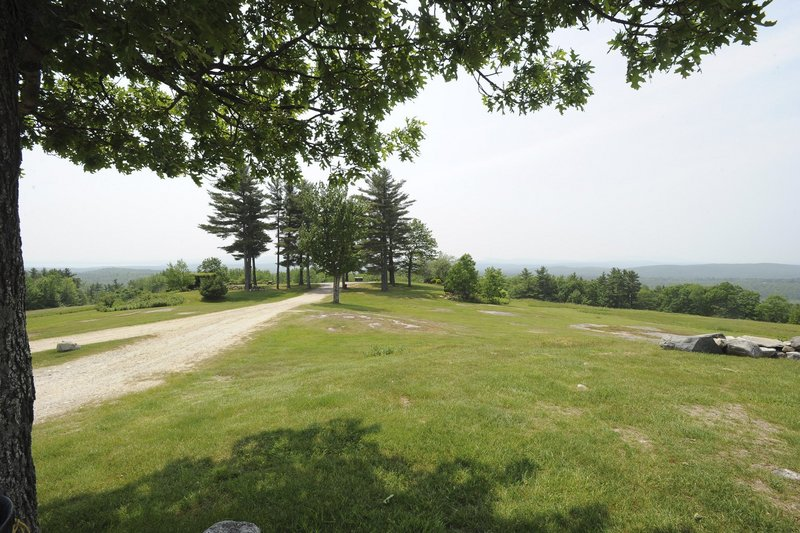 A steep road leads to the top of Hacker's Hill on Quaker Ridge in Casco. The Loon Echo Land Trust, based in Bridgton, has until June to buy a scenic 27-acre property from father and son Conrad and Jeff Hall.