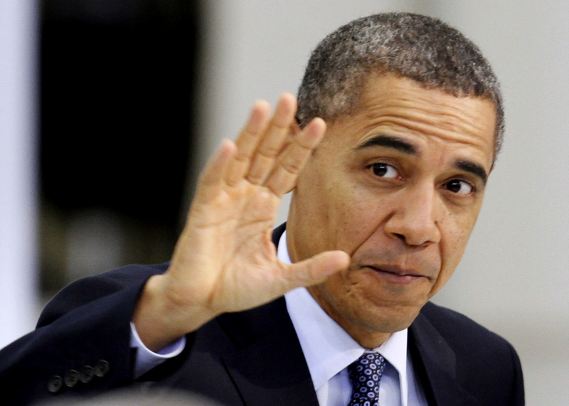President Obama waves to the crowd at an appearance Friday in Prince George, Va.