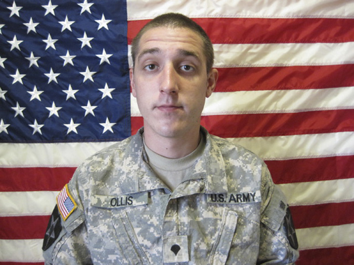 Army Pvt. Nathaniel Ollis, 29, in a Sept. 22, 2010, photo provided by the Army.