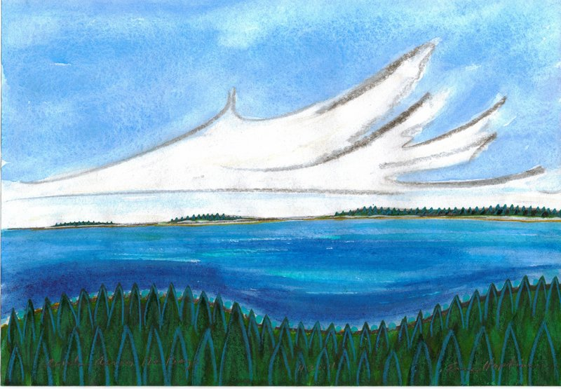 """""""Clouds Across the Bay"""" by Eric Hopkins."""