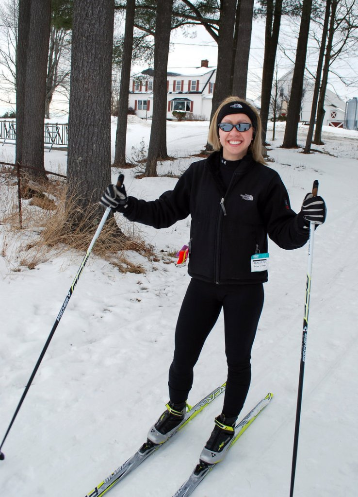 Mary Markowski, a health teacher at Scarborough High, couldn't wait to put on her cross-country skis after the long-awaited snowstorm.