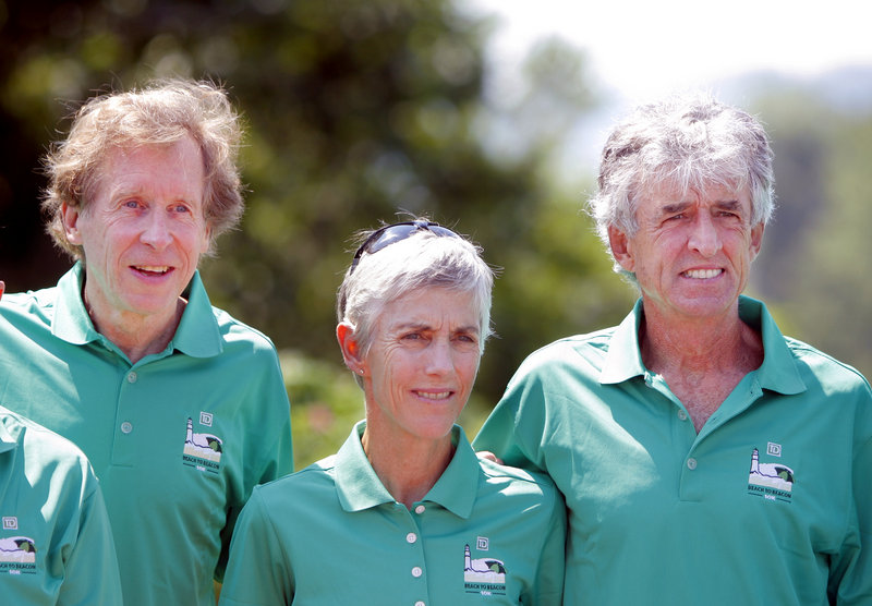 Bill Rodgers, left, and Frank Shorter will join Joan Benoit Samuelson on the Beach to Beacon course.