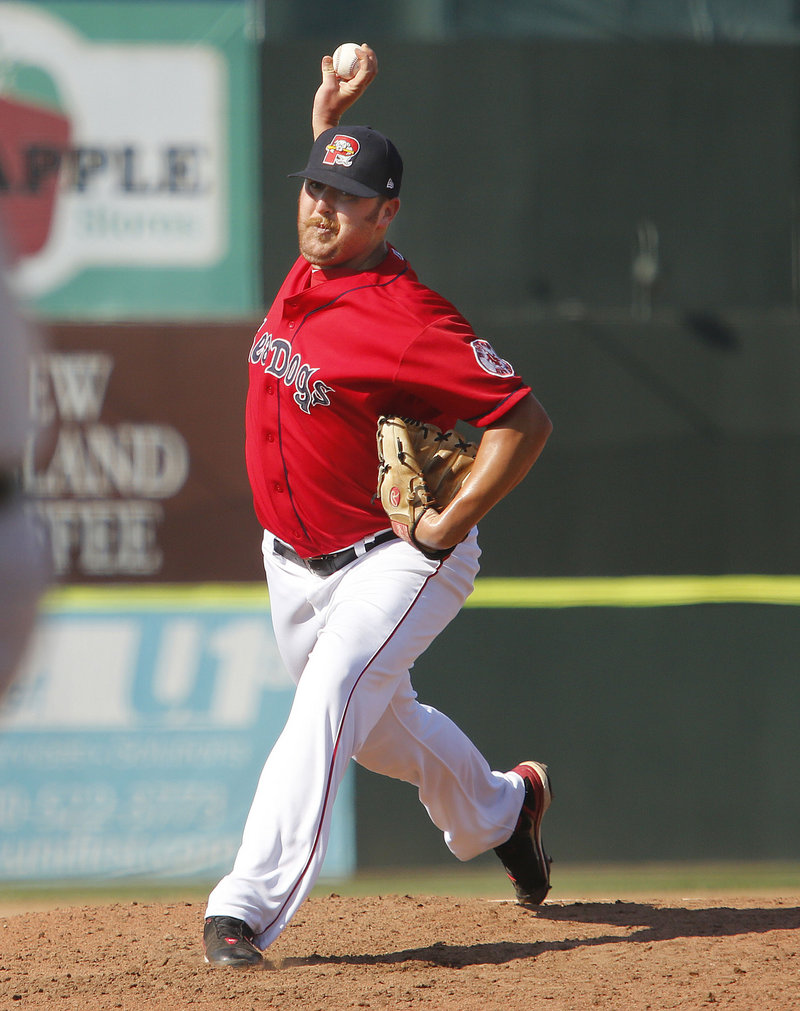 Michael Olmsted's professional baseball career was going nowhere just a year and a half ago, but now he's one of the top relievers in the Red Sox system.
