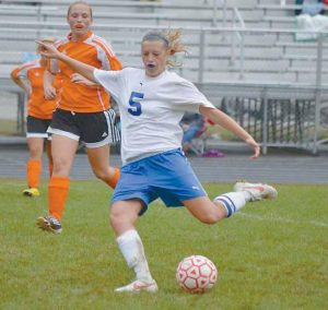 MT. ARARAT HIGH SCHOOL soccer player Chelsea Crawford and her Eagle teammates are scheduled to host Messalonskee this afternoon.