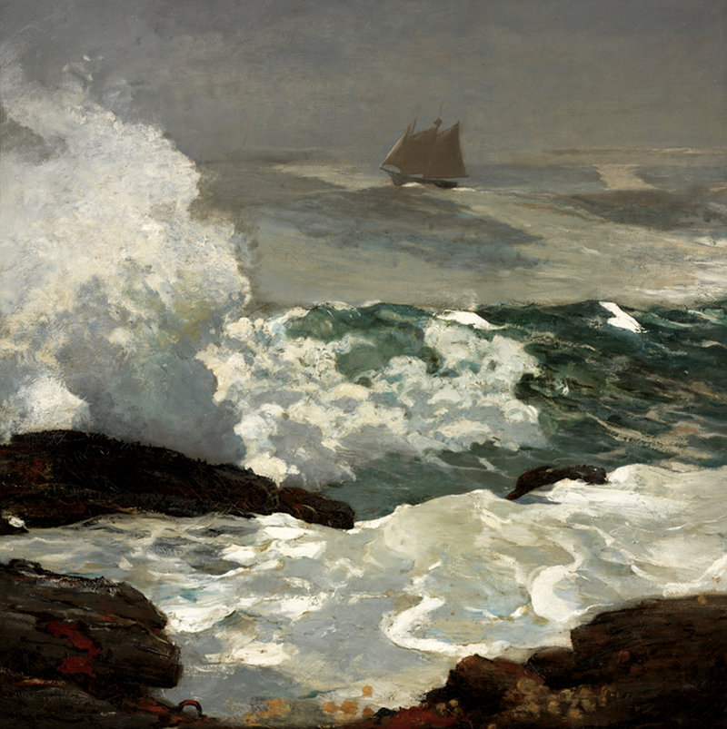 """On a Lee Shore,"" oil on canvas, 1900."