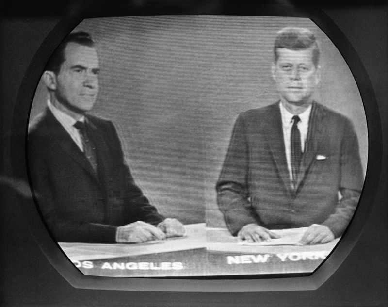 The 1960 Nixon-Kennedy debate, an event that marked the advent of the television age in politics, appeared not to influence the election outcome, with Kennedy's poll average at 50.5 before the first debate and 50.6 after the last one.