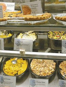 OFFERING FOUR-TO-FIVE types of breads on average, the Brunswick bakery also makes available countless varieties of scones or muffins, plain and flavored biscuits, a large selection of cookies, homemade granola, pies, cakes and cupcakes as well as nearly a dozen types of soup, frozen and fresh ready-to-eat meals, quiches, smoothies, muesli, yogurt parfaits, bake your own pies and coffee fresh or by the pound.