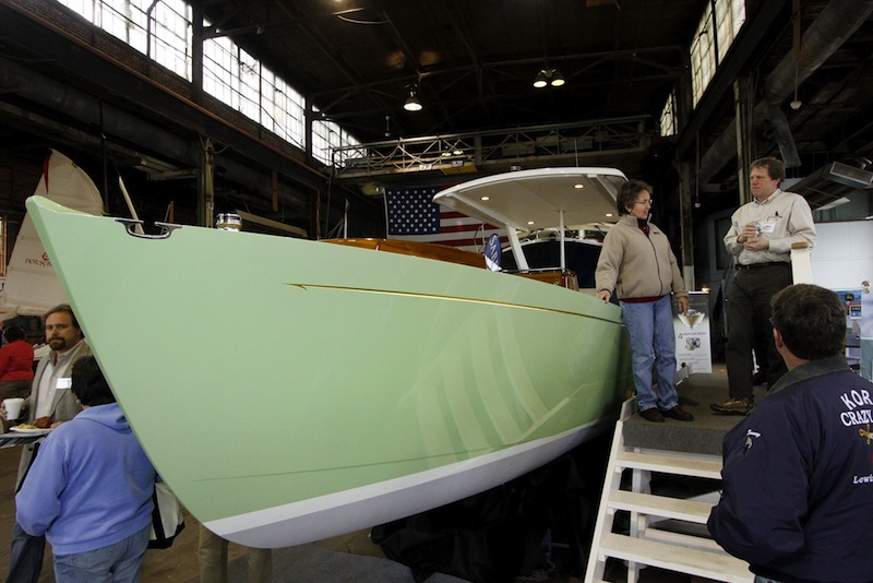 This 2010 file photo shows The Zogo, a 29-foot hybrid diesel/electric launch built by French & Webb Company in Belfast. Four Maine companies have received safety certification under the Safety and Health Achievement Recognition Program Award (SHARP) program, including French & Webb.