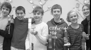 FREEPORT MIDDLE SCHOOL'S sixth-grade math team took first place in last week's Southern Maine Elementary Math Meet, competing against 25 other math teams from Greater Portland. Zach Flood won first place as an individual by having a perfect score. Peter Sachs took home a fourth-place trophy as an individual. The team is coached by Kevin Forster, a math teacher at Freeport Middle School. Pictured from left to right are Noah Kivler, Peter Sachs, Zach Flood, Ben Morang, Kyaira Grondin and Marley Cloutier.