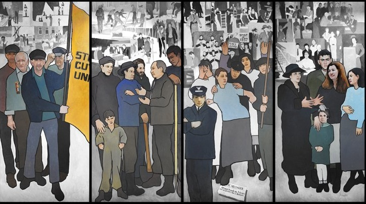 The mural depicting scenes from Maine labor history will remain at the Maine State Museum.