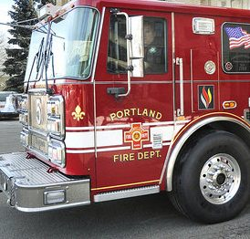 Engine 5 rolls out on a call from the Central Fire Station on Congress Street in February. City councilors said Monday night that they will look to the city's staff to decipher a 523-page analysis of the Portland Fire Department, including a recommendation to hire at least 40 firefighters to reduce overtime costs.