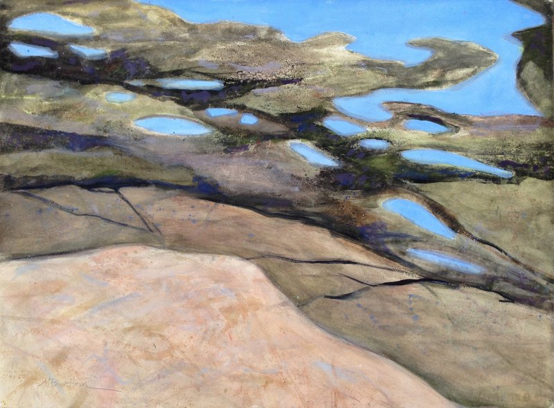 """Marilyn Blinkhorn's """"Two Lights View,"""" 2012, watercolor and acrylic."""