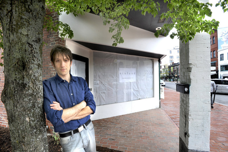"David Levi will be opening a new restaurant called Vinland this fall at 593 Congress St. in Portland. His goal: to help build ""the sustanable local food economy."""