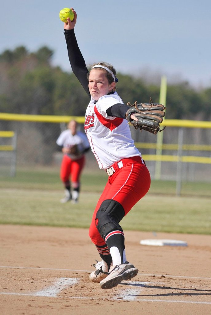 Danica Gleason was the SMAA defensive player of the year, primarily as a shortstop, but she also appeared at every other position for South Portland, including pitcher.