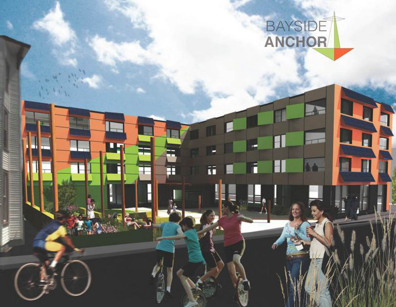 Bayside Anchor, as seen in this artist's rendering, could have a big impact on the city, considering the 42-unit project's relatively small size.