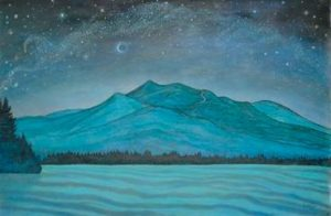 """""""NIGHT SKY (ENHANCED)"""" is par t of Centre St. Ar ts Gallery's """"Mountains I Have Climbed"""" exhibit with Brunswick/Bath artist Carolyn Judson."""