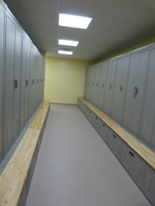 Officers are excited about the new lockers, which should hold all of their equipment currently stored in front of or above the lockers. DARCIE MOORE/THE TIMES RECORD.
