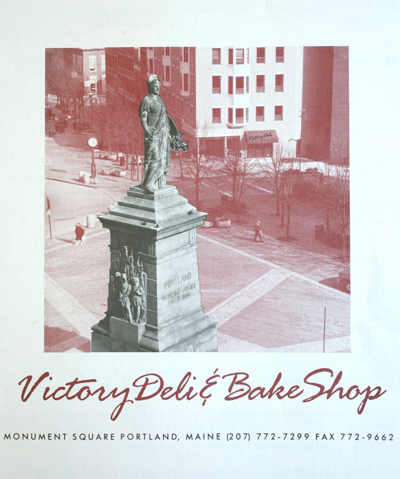 The collection also includes menus from more recent history, like this one from the departed Victory Deli & Bake Shop on Monument Square.
