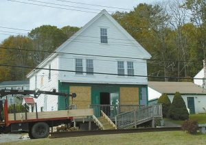 THE 1902 WINNEGANCE GENERAL STORE is located on High Street at the Phippsburg line. The new target date for the move is Wednesday.