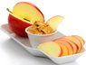 Dr. Donnelly recommends snacks like apples with peanut butter for protein, fiber and healthy fat.
