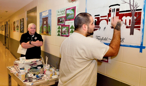 After brush with the law, Somerset County inmates paint