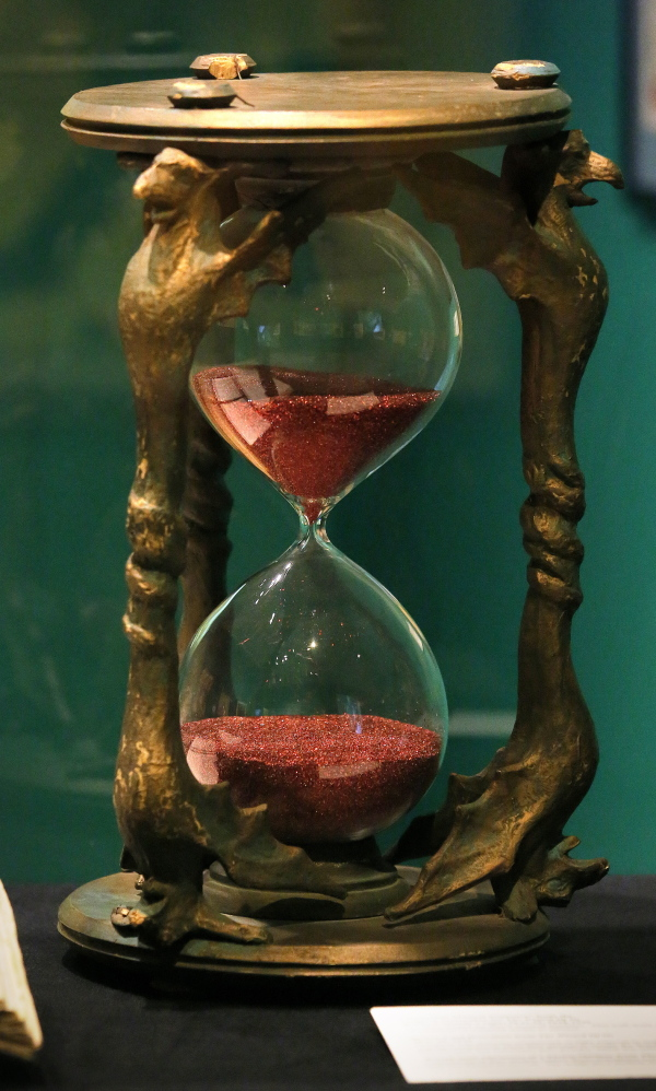 """Willard Carroll's prize pieces of """"Oz"""" memorabilia include the hourglass that the Wicked Witch of the West used to threaten Dorothy."""