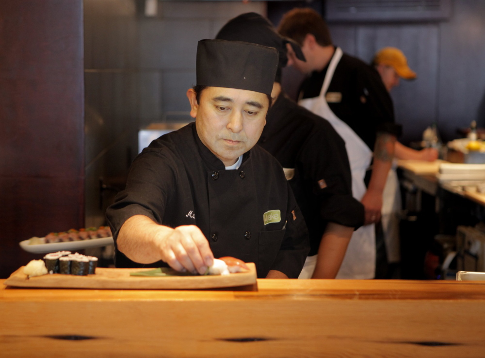 Masa Miyake of Portland, above, is a semifinalist in the Best Chef: Northeast category. Also named are: Brian Hill and Ravin Nakjaroen, both of Camden, and Cara Stadler of Brunswick.