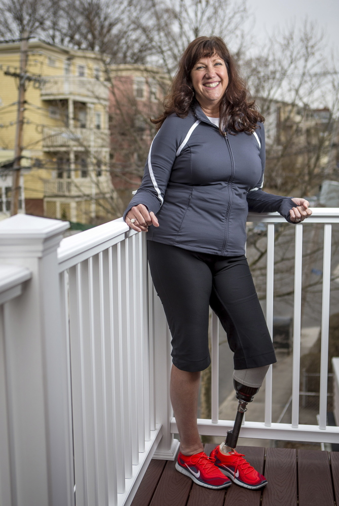 Marathon bombing survivor lost part of her leg, and discovered her