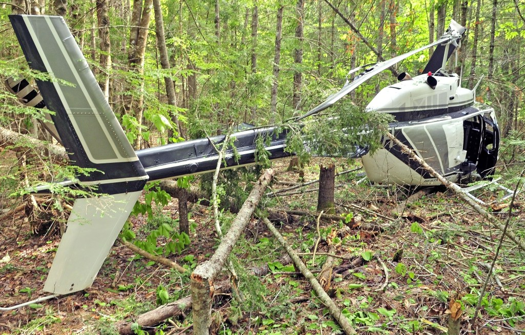 Pilot escapes injury in Whitefield helicopter crash - Portland Press