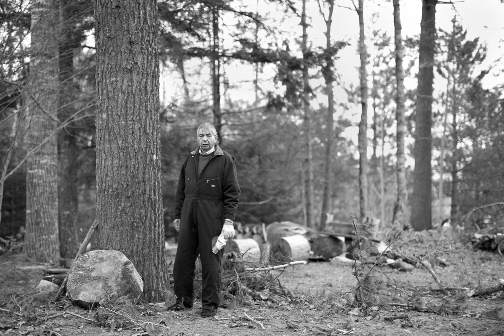 """Standing near his camp in Indian Township, Allen Sockabasin, a former Passamaquoddy chief, challenged a 1986 tribal caucus decision that left him without the right to vote. His struggle to restore his rights exposed the jurisdictional limbo that emerged for """"internal tribal matters"""" in the wake of the land claims settlement."""