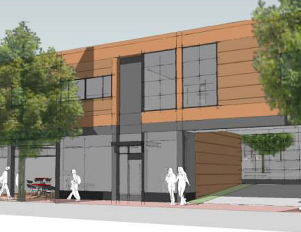 A rendering depicts East Cove Townhomes, a development planned at the edge of Portland's Munjoy Hill neighborhood.