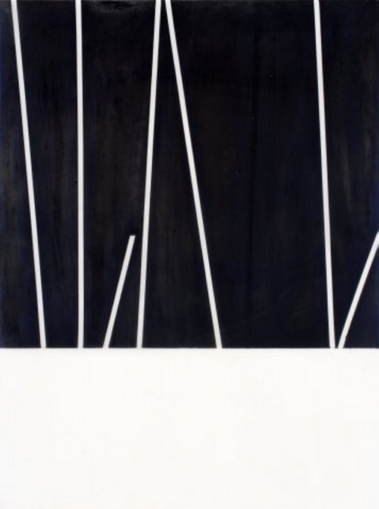 """White Lines III,"" by Munira Naqui."
