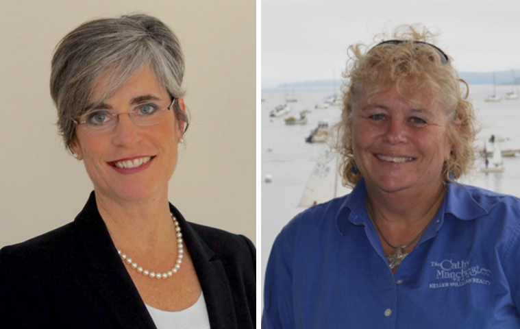 A recent recount gave the Senate District 25 election to Republican Cathleen Manchester of Gray, right, but Democrat Catherine Breen of Falmouth challenged the results.