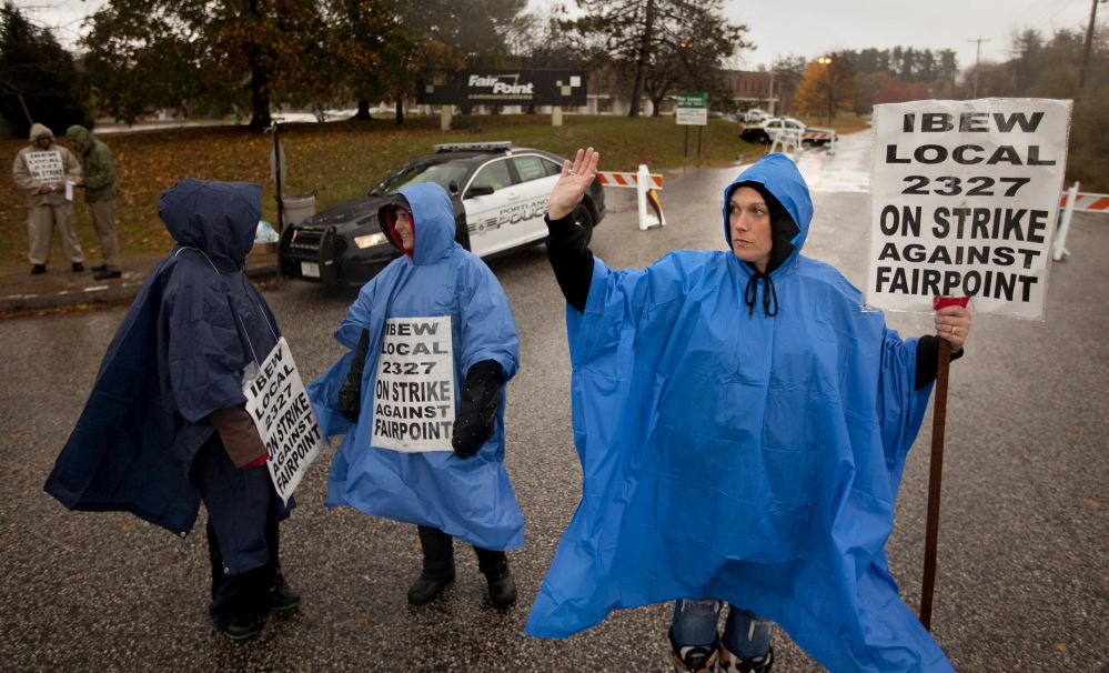 With members of the International Brotherhood of Electrical Workers on strike, FairPoint customers' complaints of bad service and long outages are reaching the Maine Public Advocate's Office.