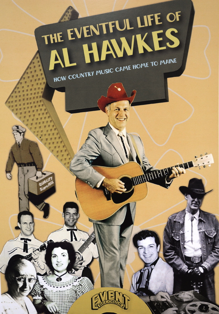 A vintage poster, photographed in 2015, features Maine bluegrass pioneer Al Hawkes of Westbrook.