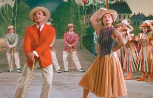 "GENE KELLY AND LESLIE CARON in ""An American in Paris."""